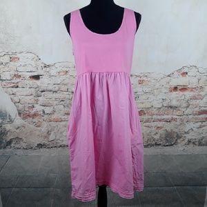 Fresh Produce L Bubblegum Pink Cotton Dress